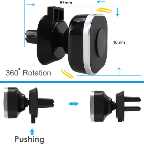 High Quality Cross Magnetic Car Accessories Convex Mount with Smartphone