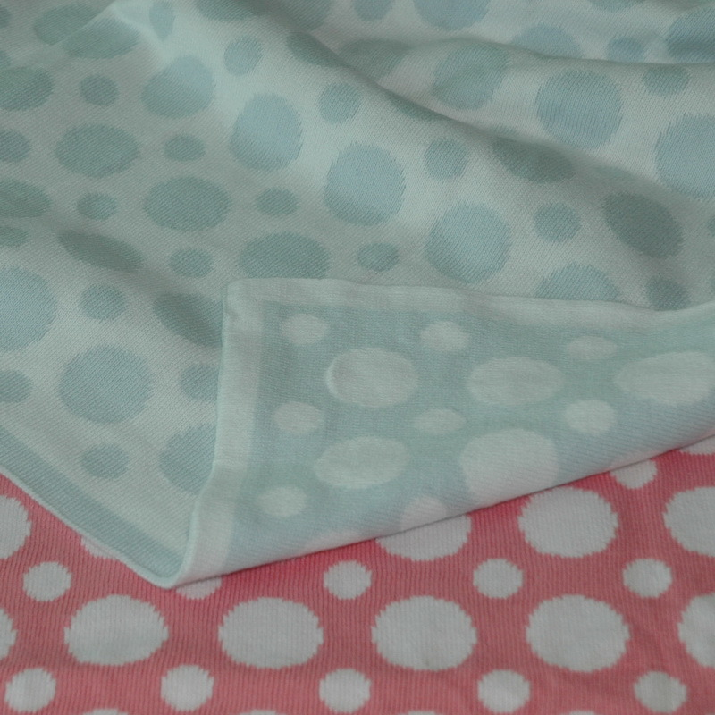 100% Cotton Reversible Knit Baby Blanket
