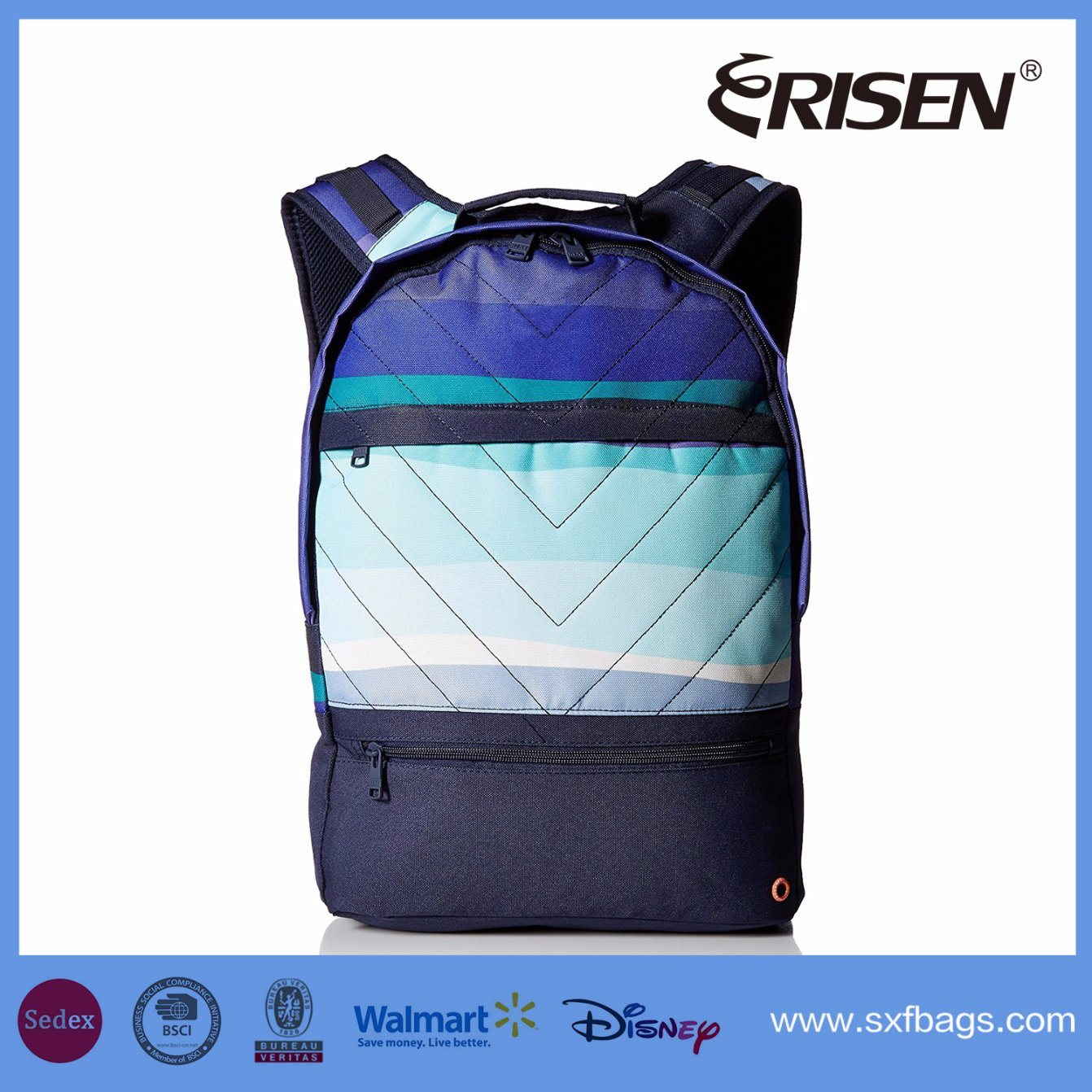 Polyester Waterproof Travel School Sport Backpack Bag