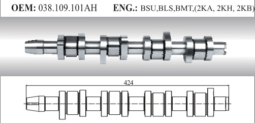 Auto Camshaft for VW (038.109.101ah)