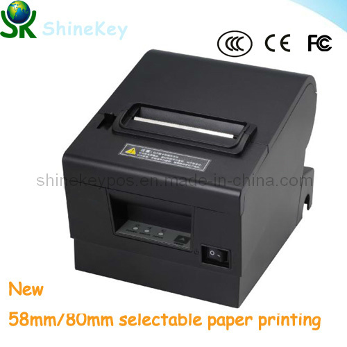 New 80mm POS Receip Thermal Printer with 2 Paper Roll Choice (SK D600)