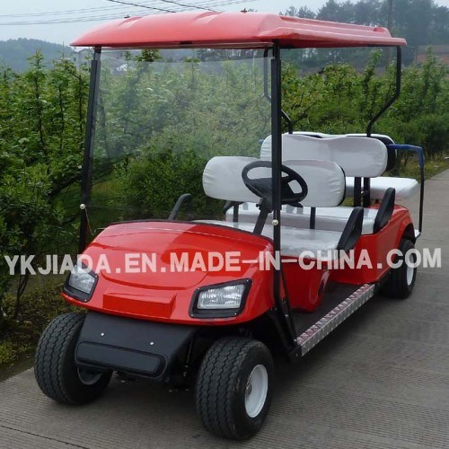 China 6 Seat Electric Sightseeing Golf Carts with 2 Back Seat (JD-GE502B)