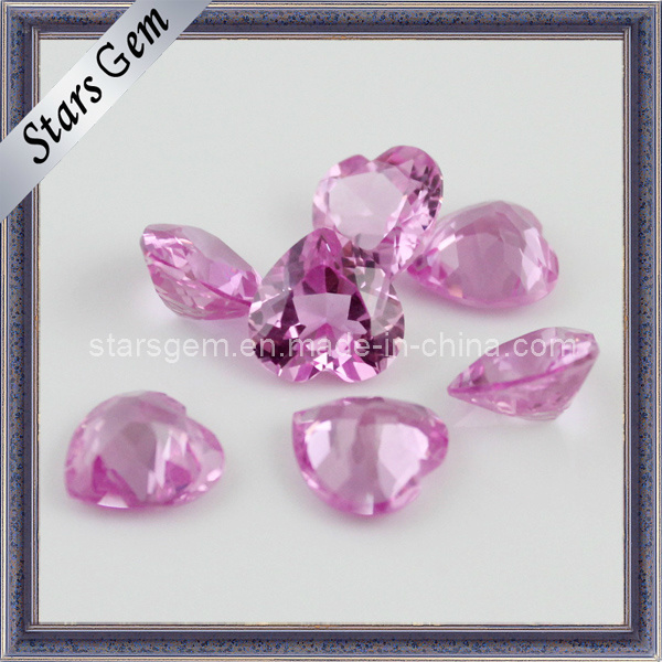 Heart Cut Synthetic 3# Pink Ruby Gems