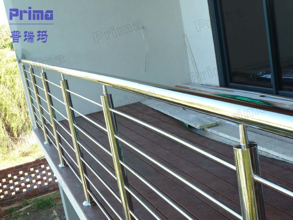 China exterior balcony railings stainless steel handrail for Terrace tubular design