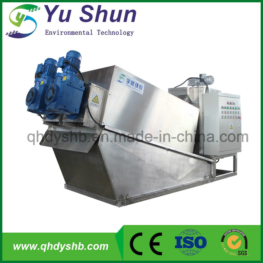 24h Running Work Stainless Steel Poultry Farm Sludge Dewatering Equipment