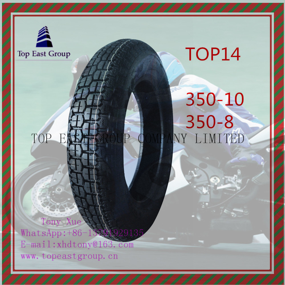 Nylon 6pr Motorcycle Tire with Size 350-10, 350-8