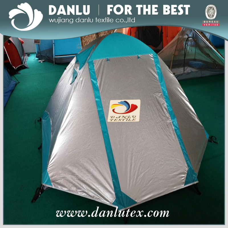 Polyester Taffeta Fabric with Sliver Coated for Tent