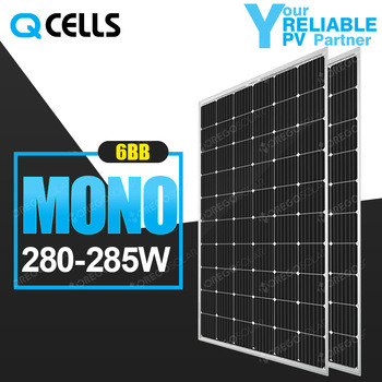 Q-Cells Mono PV / Photovoltaic Panel 280W 285W for Solar Power System