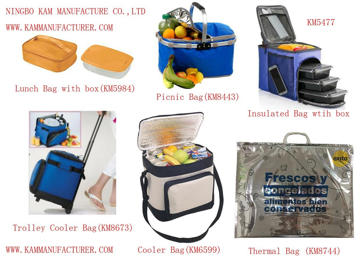 Trolley Insulated Cooler Rolling Picnic Bag Wheel Thermal Ice Lunch Bag