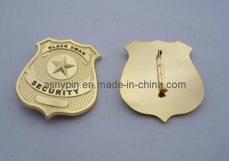 Metal Gold Uniform Lapel Pin
