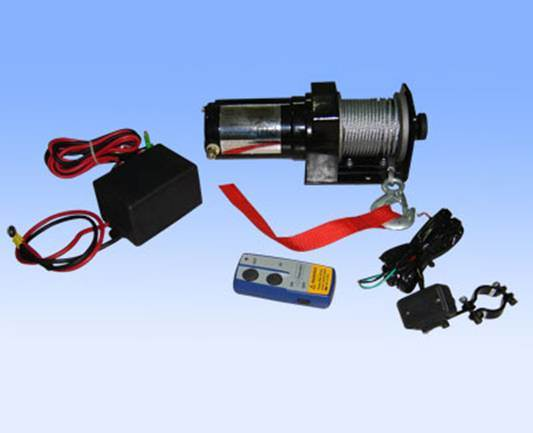 12V 2000lb Portable ATV Trailer Recovery Electric Winch with Wireless Remote Control