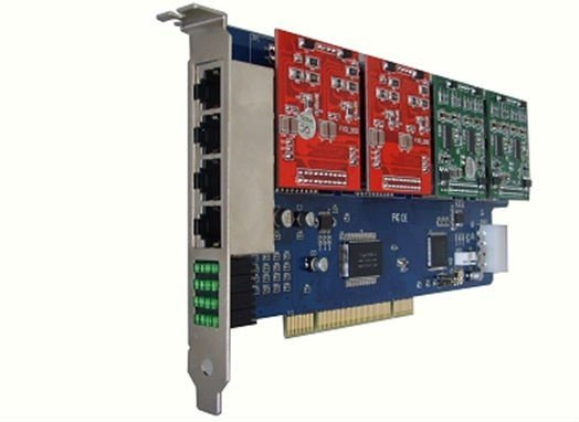 Compatible Asterisk Fxo/ Fxs PCI Card with 8 Ports (800P)