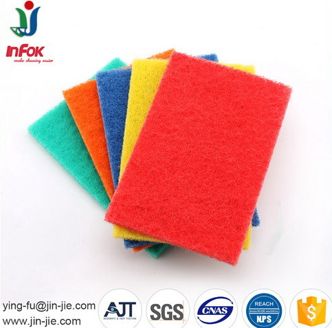 Colorful Non Scratch Kitchen Tile Cleaning Scouring Pad