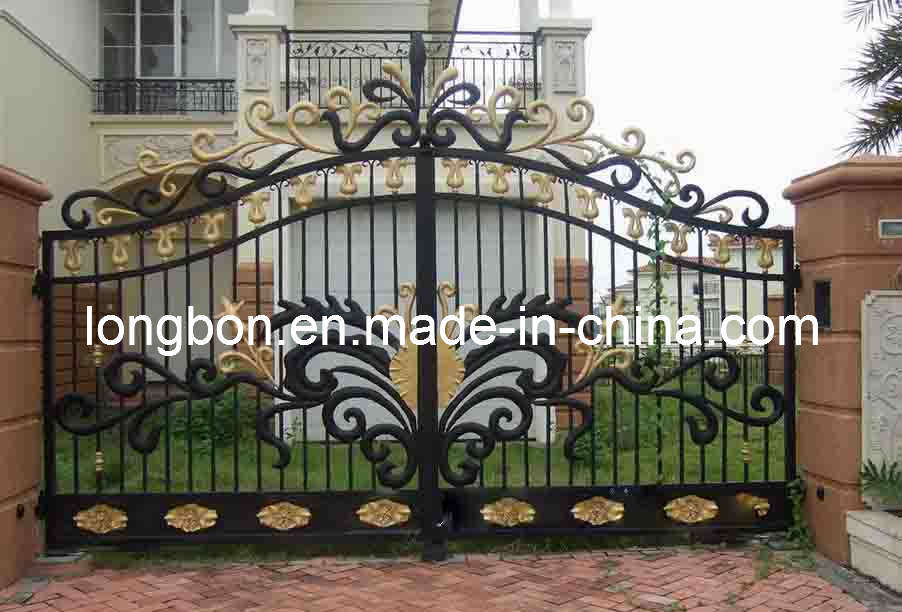 China Modern Wrought Iron Garden Gate Design Lb I G 0034