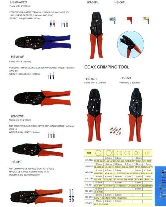 china coax crimping tool china tool terminal. Black Bedroom Furniture Sets. Home Design Ideas