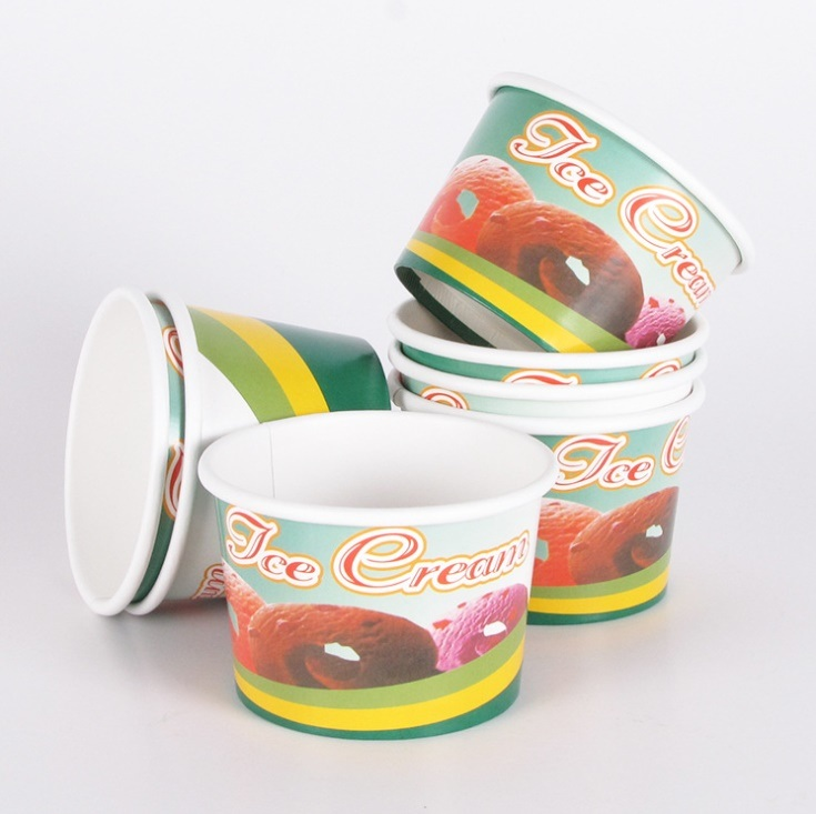 Custom Logo Printed Paper Cup for Ice Cream