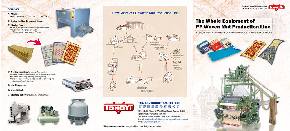 Catalogue of PP Woven Mat Machinery