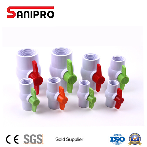 "Sanipro 1/2""-4"" PVC Ball Valve Plastic Valve for Water Supply"