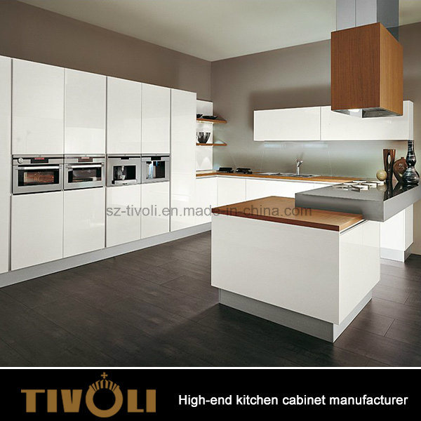 Contemporary Prefab Custom White Kitchen Cabinet Cupboards Units with Pantry design Tivo-0014h