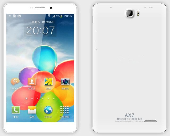 Portable PC 3G Callphone Quad Core Mtk8392 7 Inch Ax7