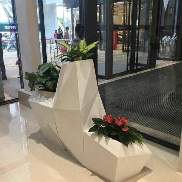 Fo-325 Modern Set Fiberglass Flower Pot for Decoration