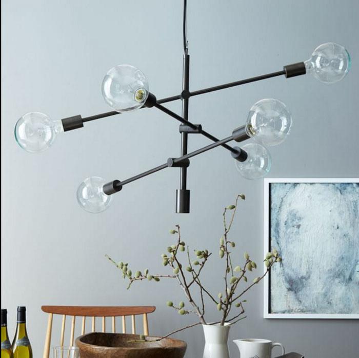 Postmodern Style Indoor Bronze/Brass/Black Metal Hanging Pendant Lamp Lights for Dining Room