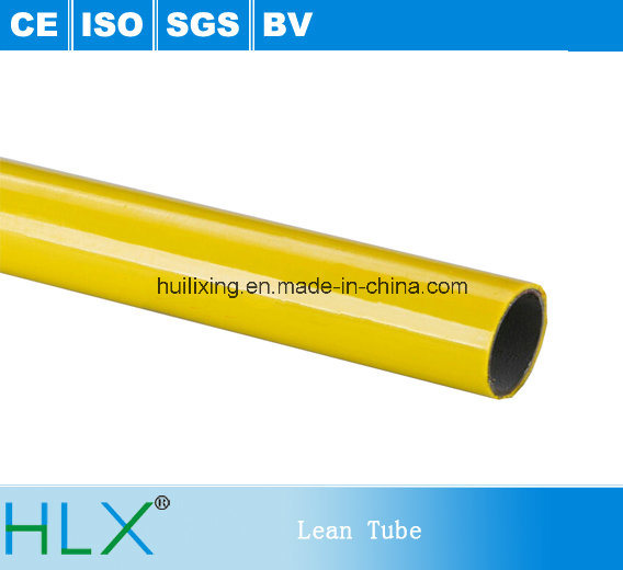 ABS Coated Steel Pipe Colored Lean Tube, Compound Lean Pipe for Rack