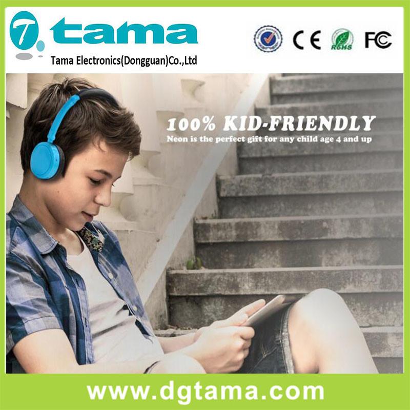 Foldable Overhead Headphones for Girls Boys Childrens Kids Teens Blue