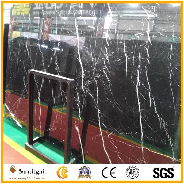 Cheap China Natural Black Nero Marquina Marble/Stone Slabs