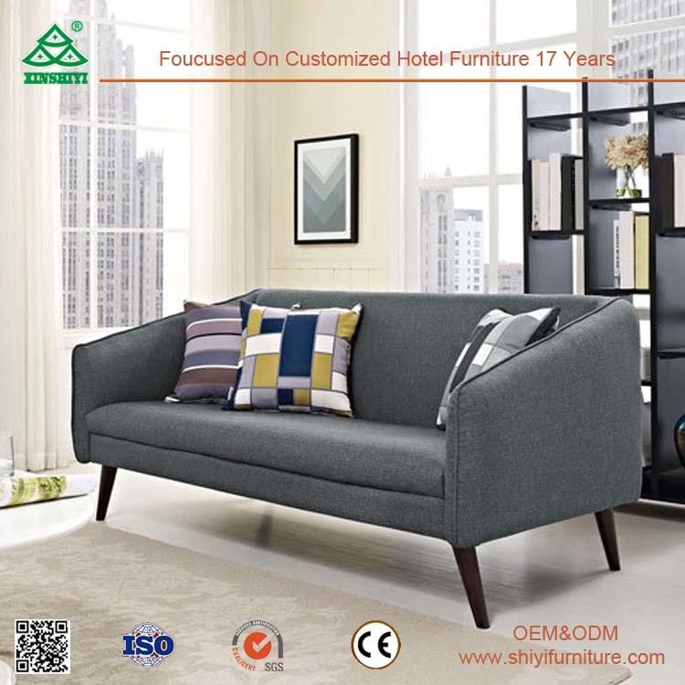 Simple Nice Comfortable Leather Sofa Set for Living Room, Ergonomic Design Wooden Sofa Set Design
