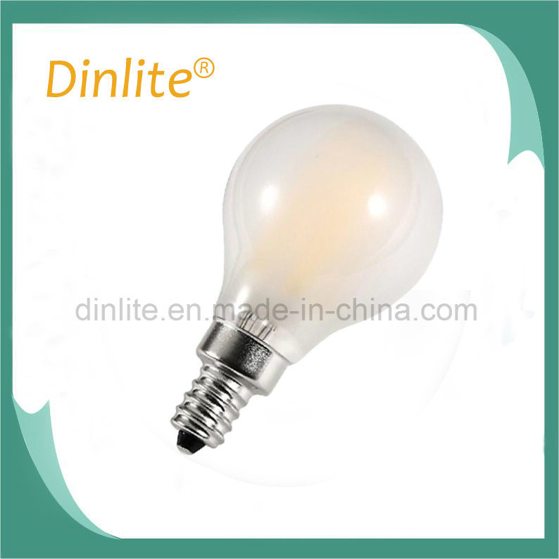 2 Year Warranty G45 4W Frosted LED Filament Bulb E14 E27 Base