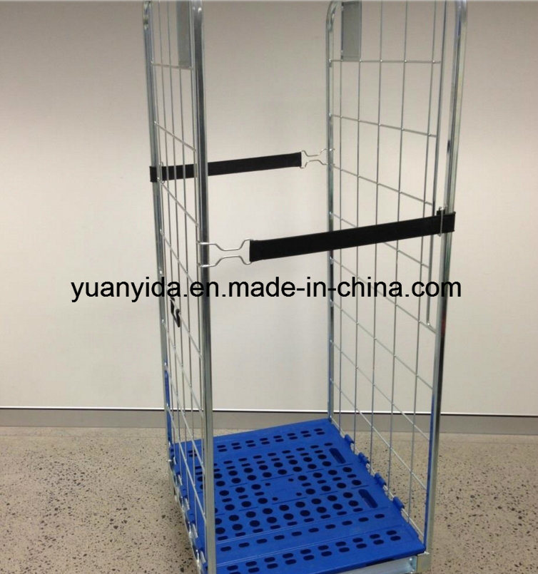 Europe Popular Roll Pallet Storage Hand Trolleyn Roll Container with Plastic Pallet