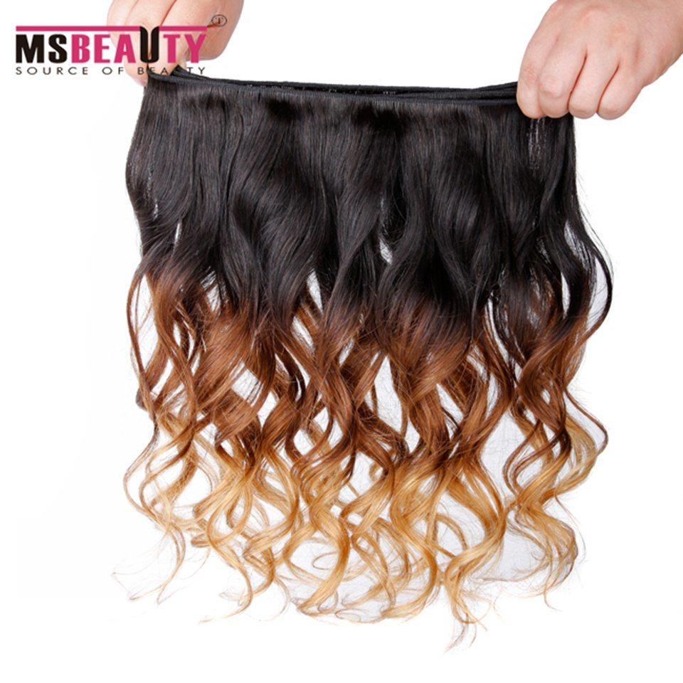 Msbeauty Hair Ombre Brazilian Virgin Human Hair Loose Wave