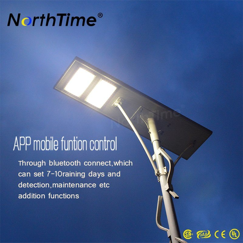 5 Years Warranty Outdoor Integrated Solar Street Light with APP Control
