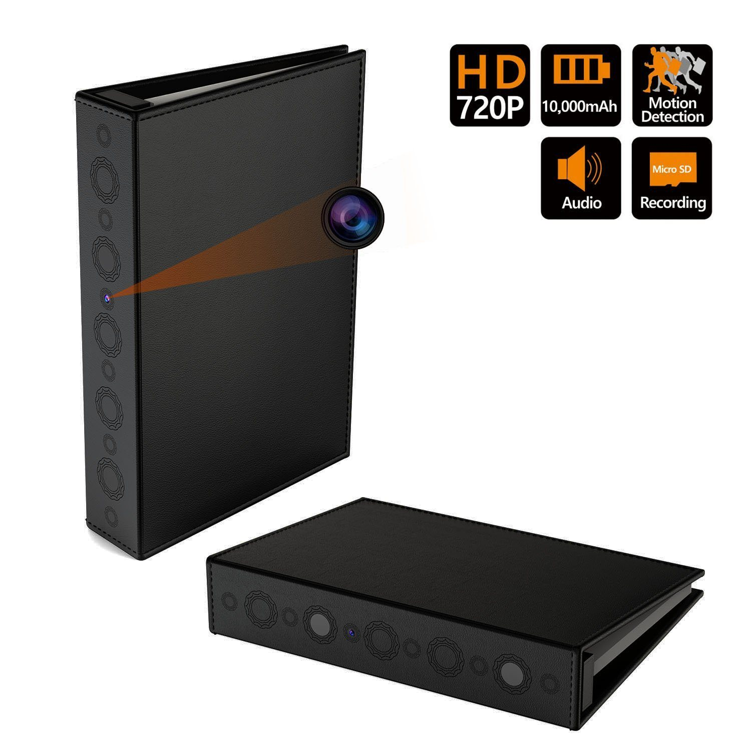720p Nanny Camera in Book Folder Video Recorder
