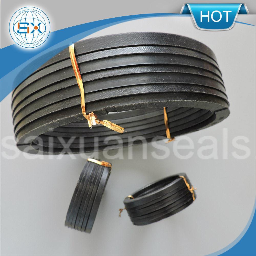 V Shape Ring PTFE/ Viton/NBR Fiber Packing Machine V Packing Seal