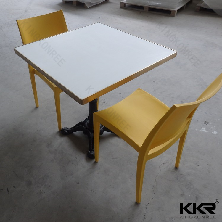 Solid Surface Stone Square Dinner Table for Restaurant Room