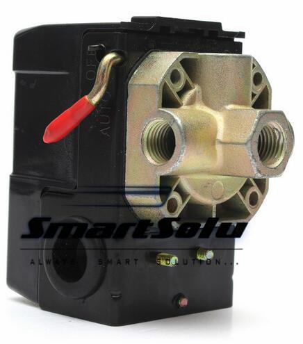 Pressure Switch Control Air Compressor 90-125 Psi 4 Port Heavy Duty 26 Apm