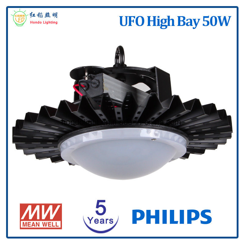 5 Years Warranty UFO LED High Bay 50W with Ce&RoHS Approved
