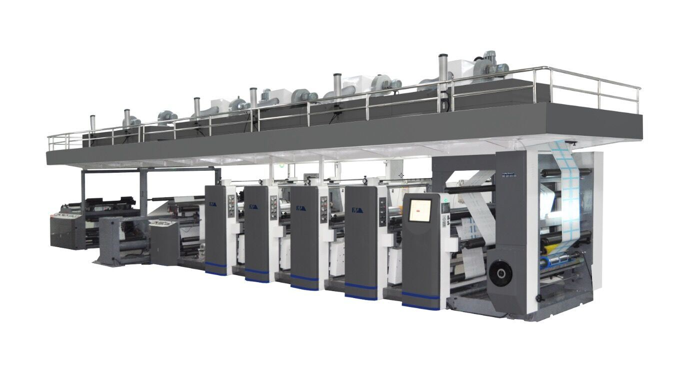 High Speed Medical Package Frame Coating Flexo Printer