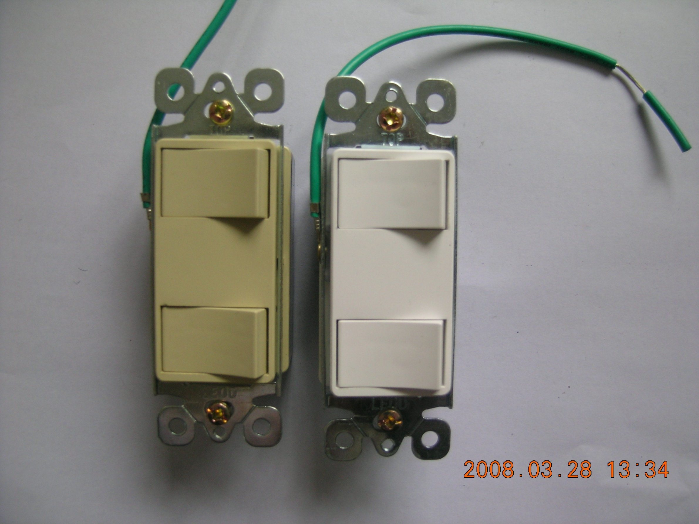 American Style Decora Rocker Switch with Grounding