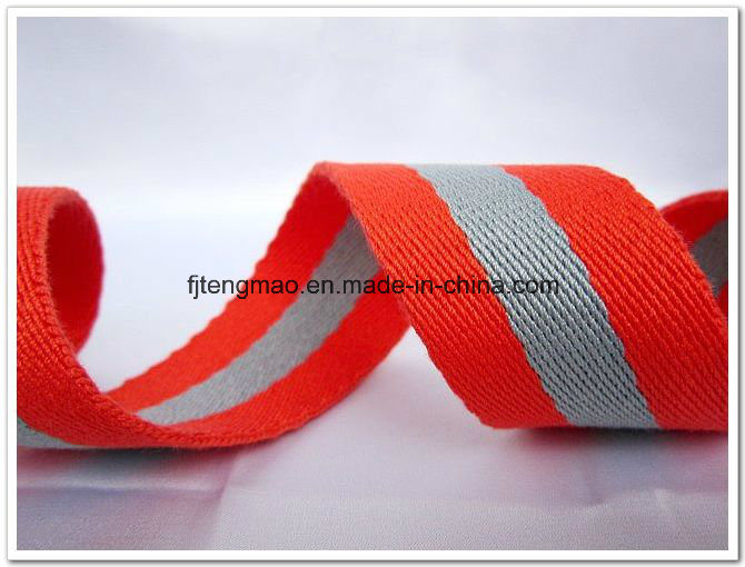 Red Grey Mixed Cotton Webbing Belt