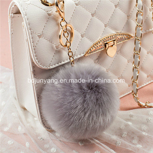 Fuzzy Ball Keychain Fake Rabbit Fur Ball