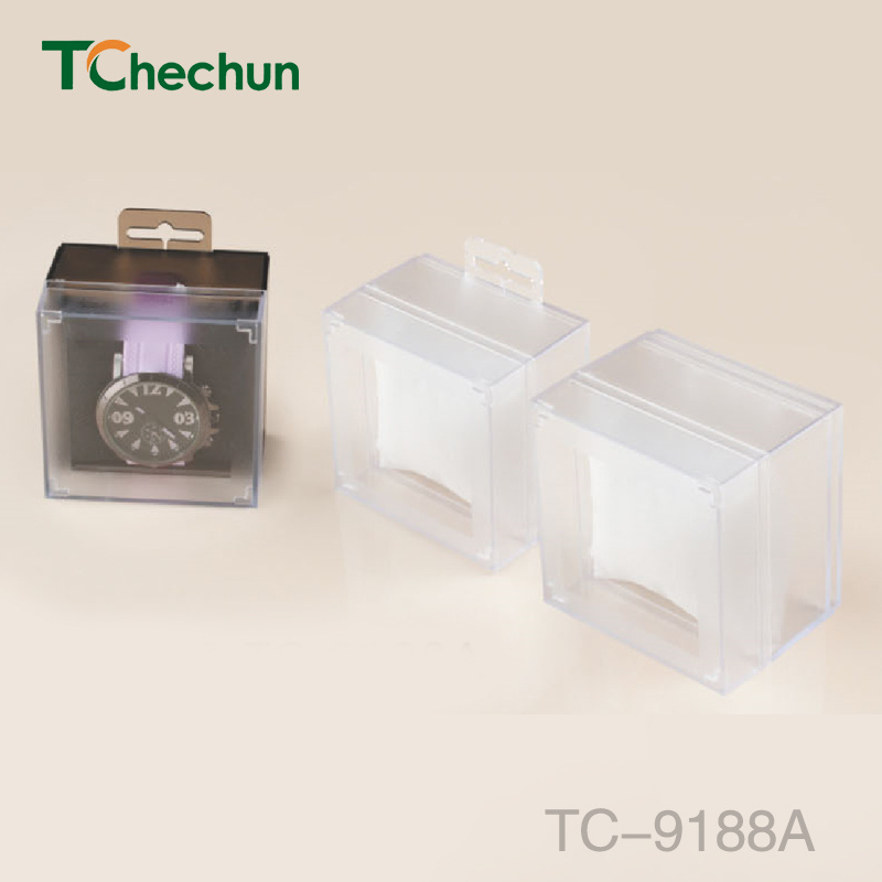 with a Hook of Square Simplicity Plastic Watch Box