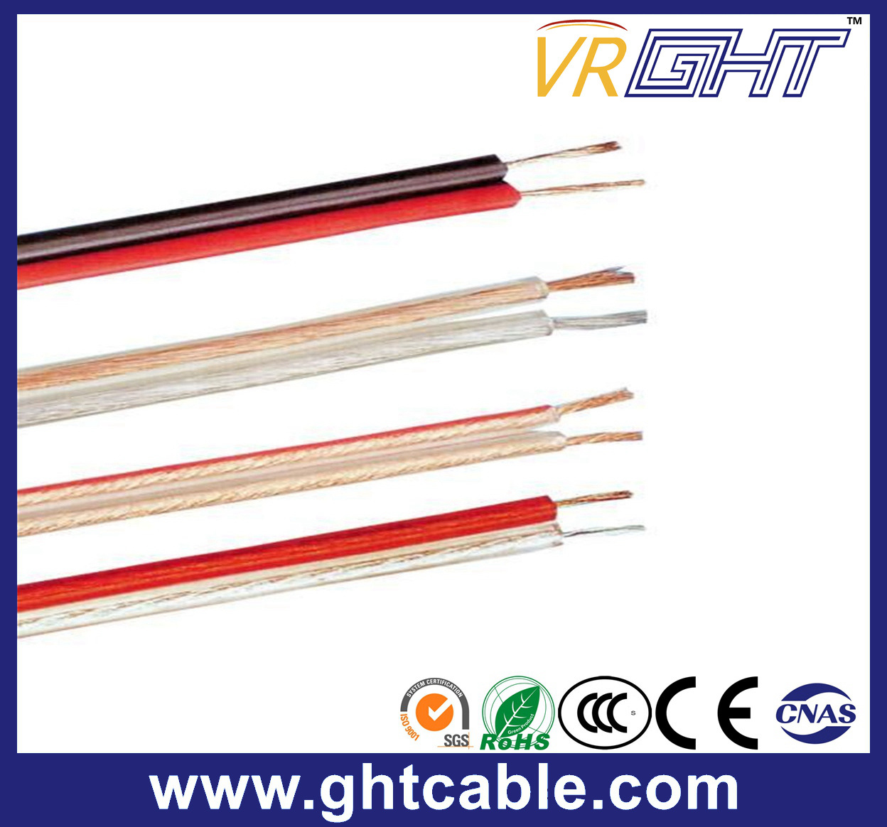 Transparent Flexible Speaker Cable (2X1.2mmsq CCA Conductor)