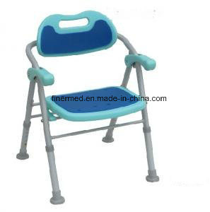 Compact Folding Shower Bench with Soft Padded Seat
