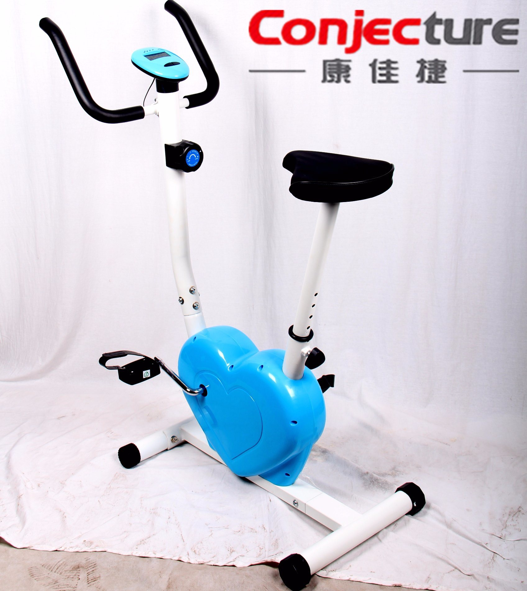 Heart-Shaped Magnetic Exercise Bike for Home Use
