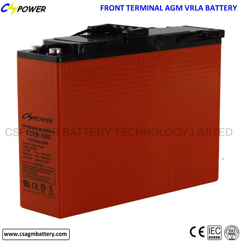 Cspower 12V 100ah Front Access VRLA Battery FT12-100