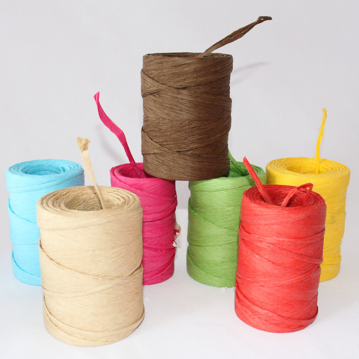 Customized Colorful Raffia in Roll