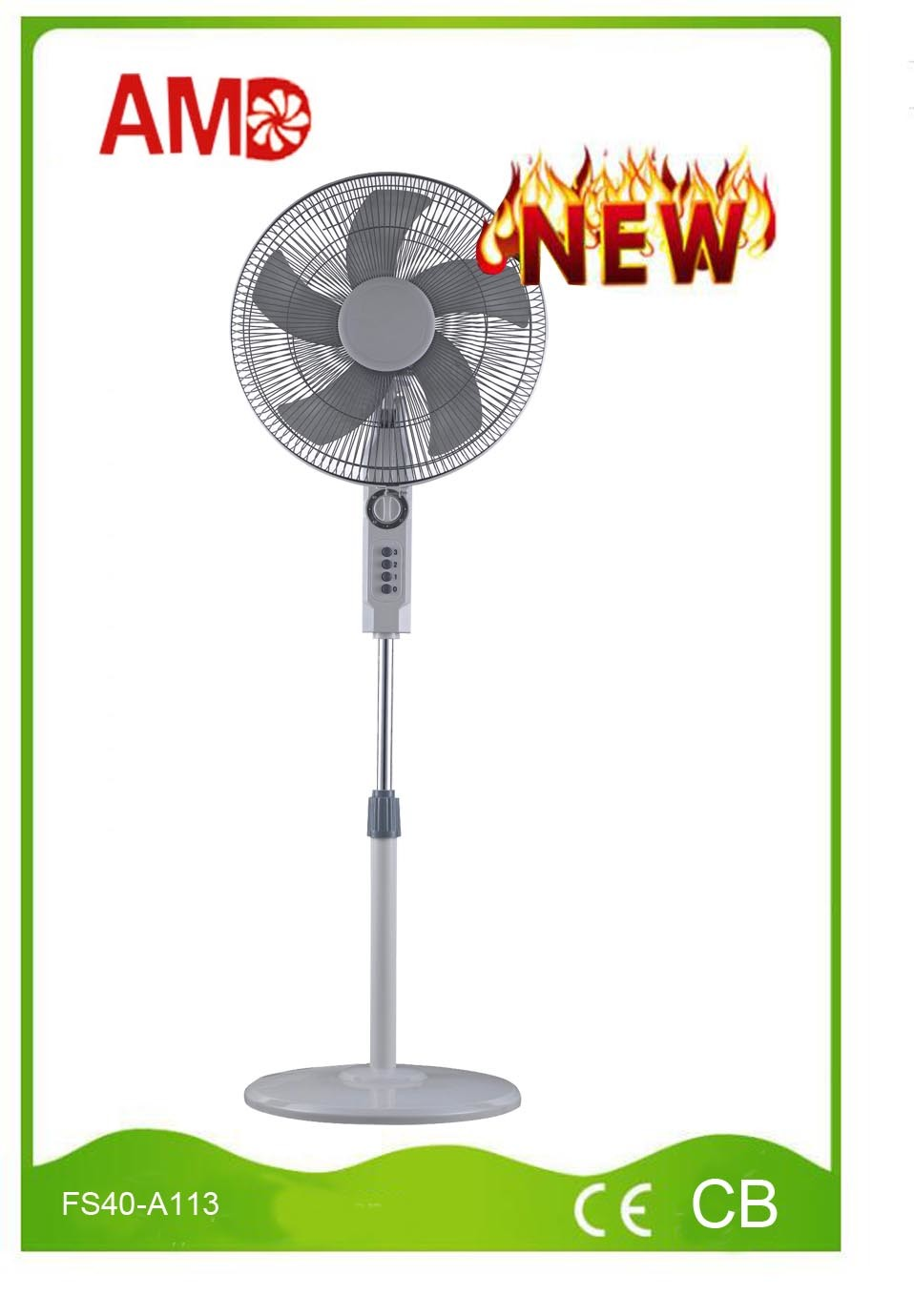 2016 New Design Stand Fan with Ce Approved (FS40-A113)